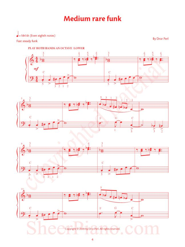 Blue Red Original Compositions By Dror Perl Piano Addict